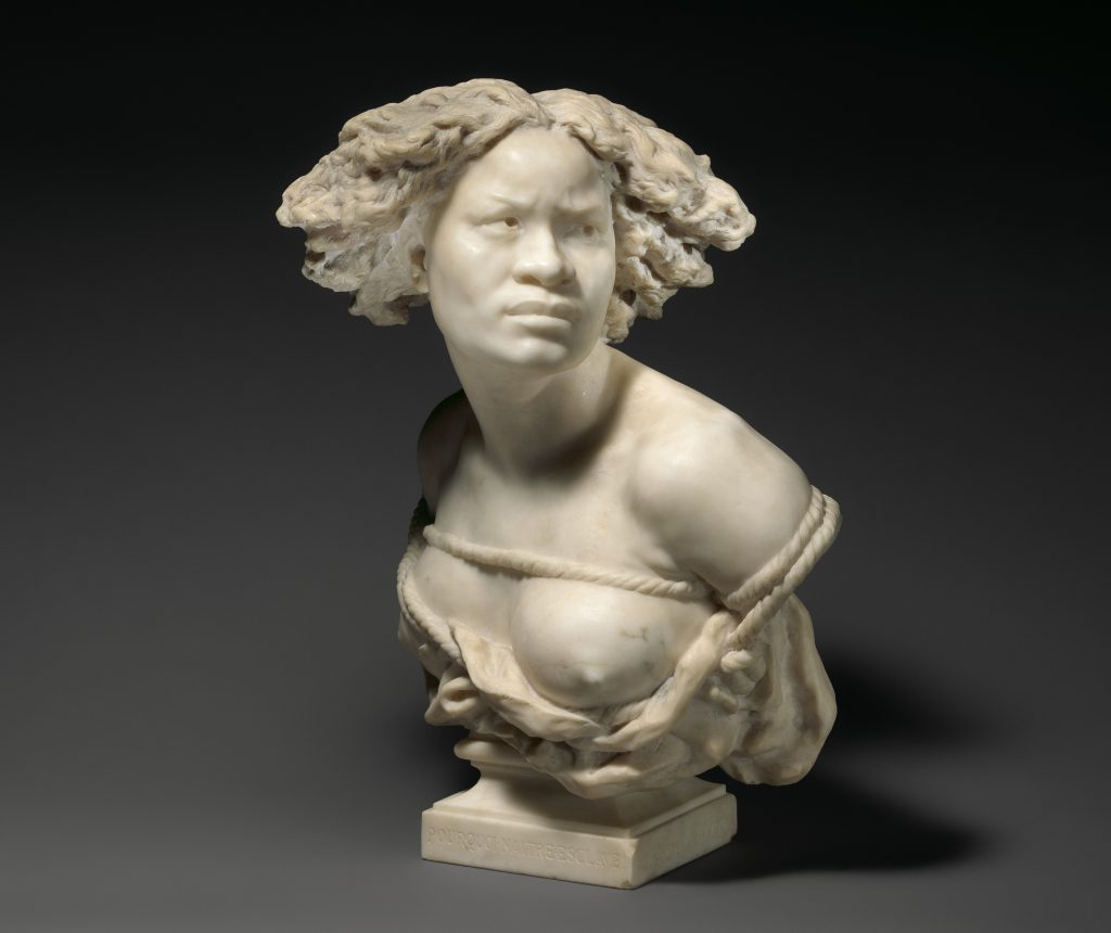 Why be born a slave, sculpture from Carpeaux